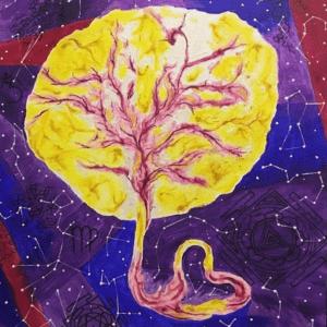 """Картина """"Плацента"""" - художественный отпечаток плаценты от Ассоциации """"Плацентариум"""""""